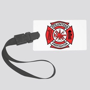 Volunteer Firefighter Large Luggage Tag