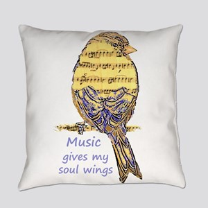 Music Gives my Soul Quote Wings Everyday Pillow