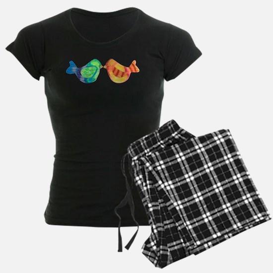 Bright and Happy Love Birds Pajamas