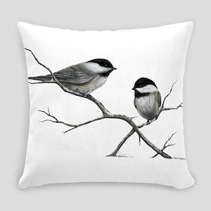 chickadee song bird Everyday Pillow