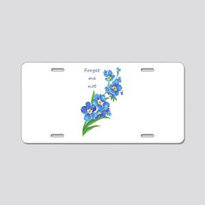 Forget-Me-Not Watercolor Fl Aluminum License Plate