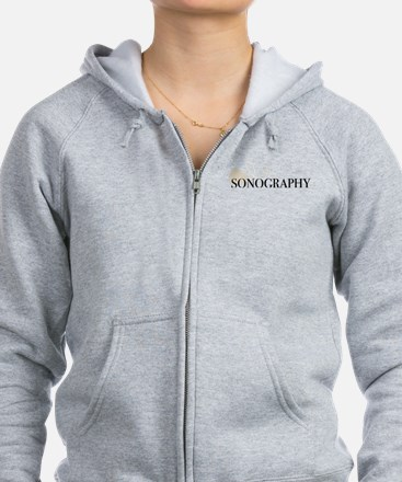 sonography with transducer fade Zip Hoodie