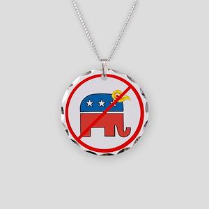 No Trump, Republican elephant Necklace