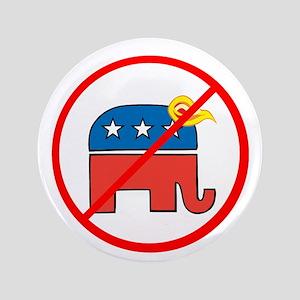 No Trump, Republican elephant Button
