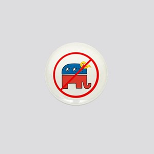 No Trump, Republican elephant Mini Button