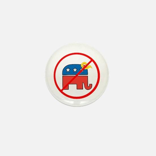 No Trump, Republican elephant Mini Button