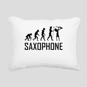 Saxophone Evolution Rectangular Canvas Pillow