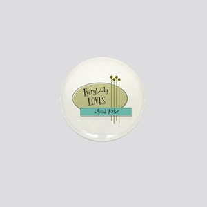 Everybody Loves a Social Worker Mini Button