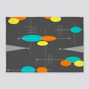 Space Age Spheres 5'x7'Area Rug