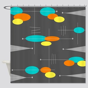 Space Age Spheres Shower Curtain