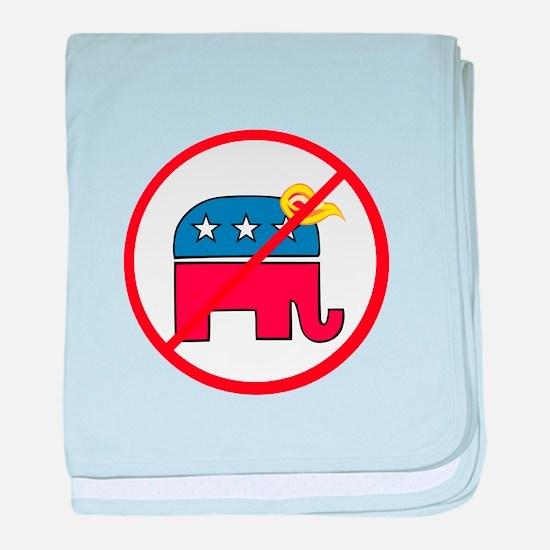No Trump, Republican elephant baby blanket