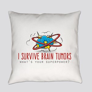 I Survive Brain Tumors Everyday Pillow
