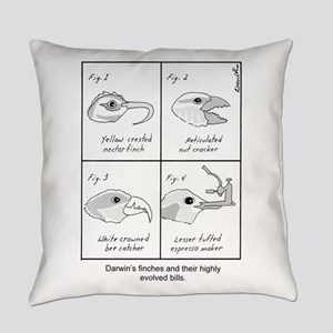 Darwin's Finches Everyday Pillow
