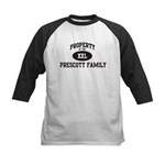 Property of Prescott Family Kids Baseball Jersey