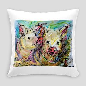 piglets, pig pair Everyday Pillow
