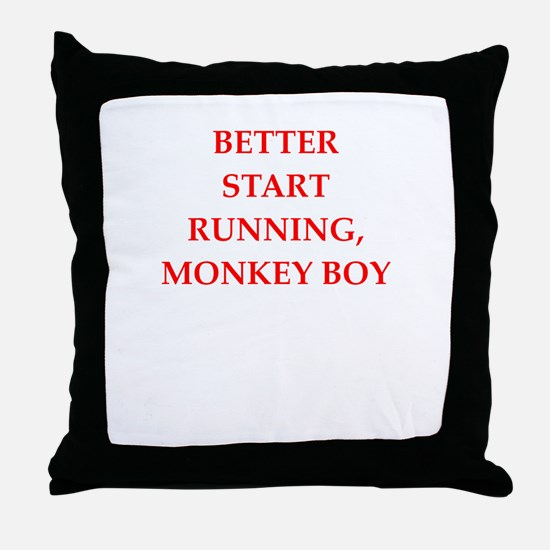 run Throw Pillow