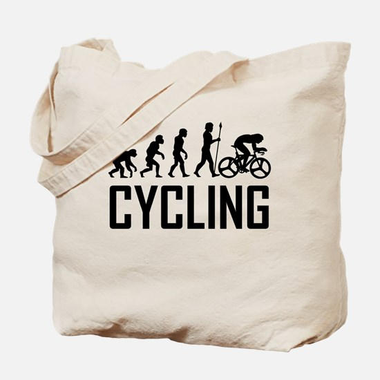Biking Evolution Tote Bag