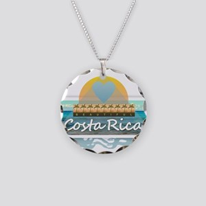 Costa Rica Necklace Circle Charm