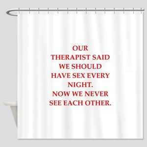 therapy Shower Curtain