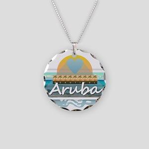 Aruba Necklace Circle Charm