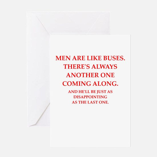 men Greeting Cards