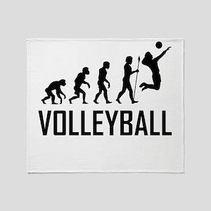 Volleyball Evolution Throw Blanket
