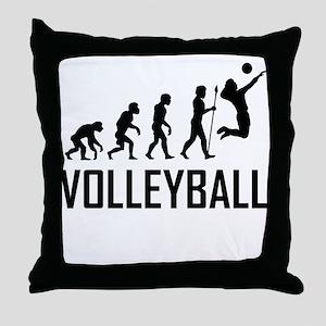 Volleyball Evolution Throw Pillow