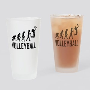Volleyball Evolution Drinking Glass