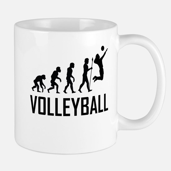 Volleyball Evolution Mugs