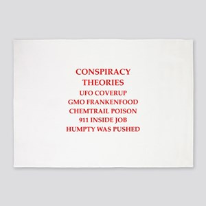conspiracy theories 5'x7'Area Rug