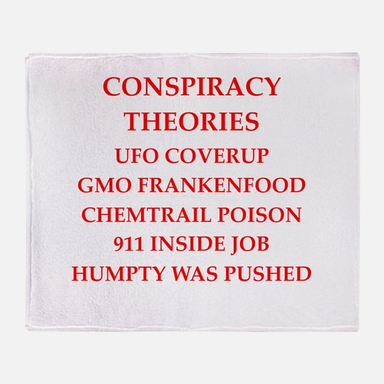 conspiracy theories Throw Blanket