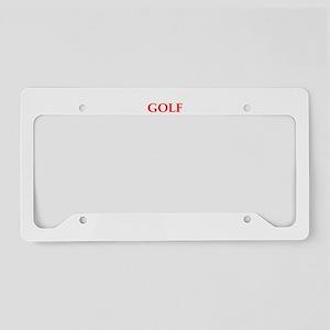 golfer License Plate Holder