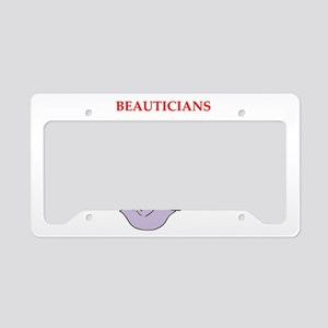beautician License Plate Holder