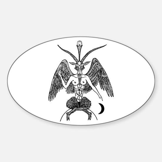 Baphomet Oval Decal