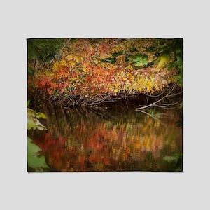 Autumn Color Throw Blanket