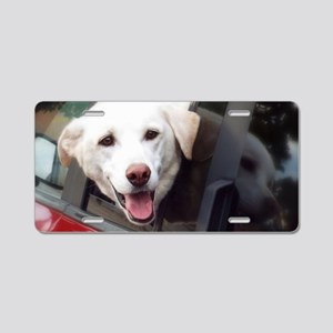 Dog Smile Aluminum License Plate