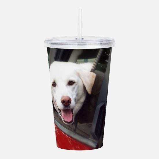 Dog Smile Acrylic Double-wall Tumbler