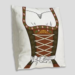 Dirndl Oktoberfest Burlap Throw Pillow