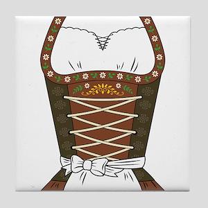 Dirndl Oktoberfest Tile Coaster