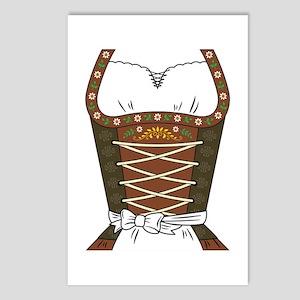 Dirndl Oktoberfest Postcards (Package of 8)