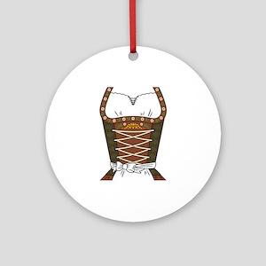 Dirndl Oktoberfest Round Ornament
