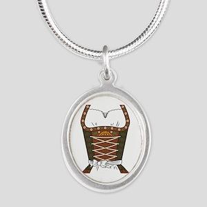 Dirndl Oktoberfest Silver Oval Necklace