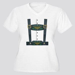 Lederhosen Oktobe Women's Plus Size V-Neck T-Shirt