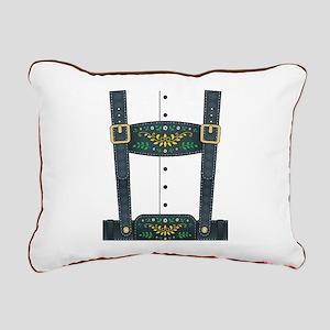 Lederhosen Oktoberfest Rectangular Canvas Pillow
