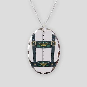 Lederhosen Oktoberfest Necklace Oval Charm