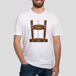 Lederhosen Oktoberfest Fitted T-Shirt