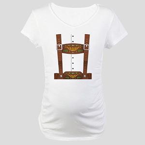 Lederhosen Oktoberfest Maternity T-Shirt