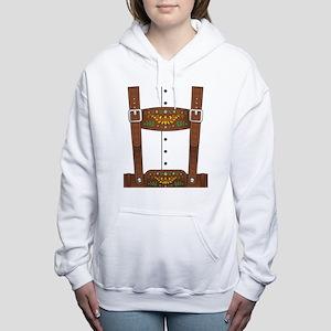 Lederhosen Oktoberfest Women's Hooded Sweatshirt