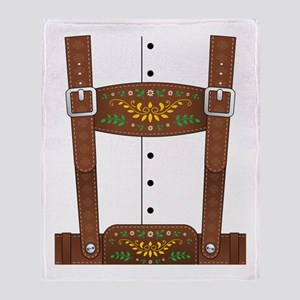 Lederhosen Oktoberfest Throw Blanket