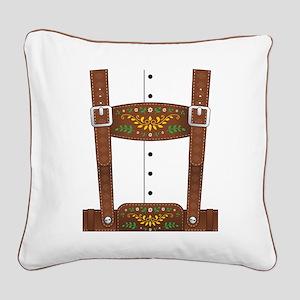 Lederhosen Oktoberfest Square Canvas Pillow
